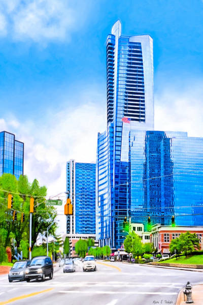Photograph - Soaring Into The Buckhead Skies - Atlanta Skyline by Mark Tisdale