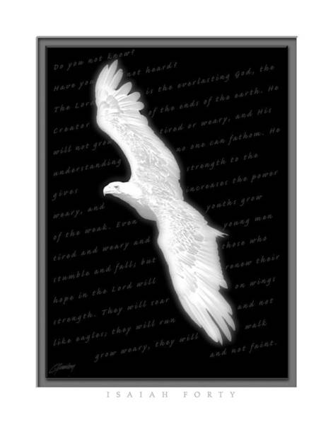 Courage Digital Art - Soaring - Isaiah Forty by Cliff Hawley