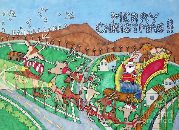 Painting - Socal Santa by Joan Coffey