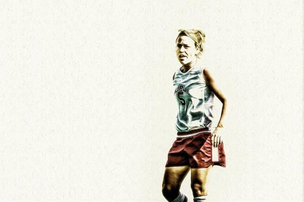Photograph - Soccer Iupui Painted Digitally by David Haskett II