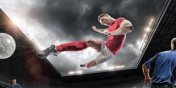 Team Sport Photograph - Soccer Kick by Peepo