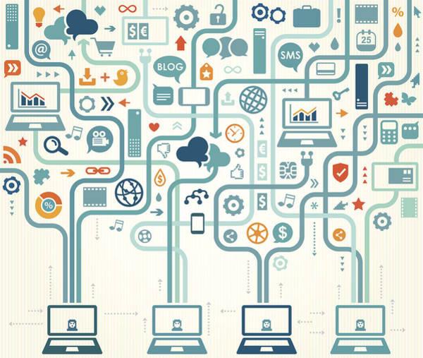 Symbol Digital Art - Social Media Gathering by Drafter123