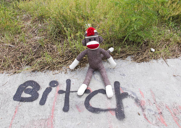 Sock Monkey Photograph - Sock Monkey Is Offended by William Patrick