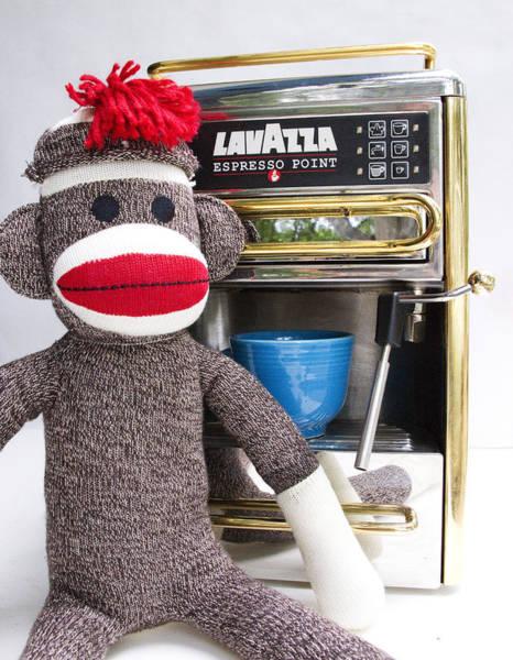 Sock Monkey Photograph - Sock Monkey's New Friend by William Patrick