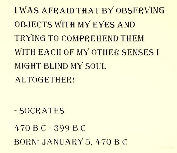 Capable Photograph - Socrates Quote In Sepia by Rob Hans
