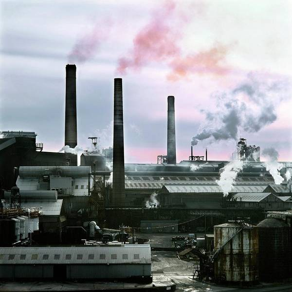 Manufacturing Plant Wall Art - Photograph - Soda Ash Works by Robert Brook/science Photo Library