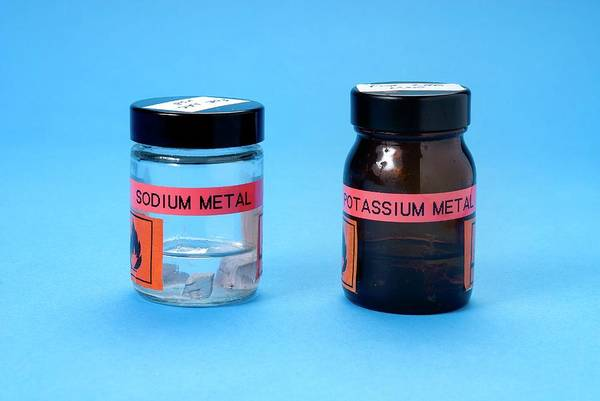 Silvery Photograph - Sodium And Potassium Stored In Oil by Trevor Clifford Photography