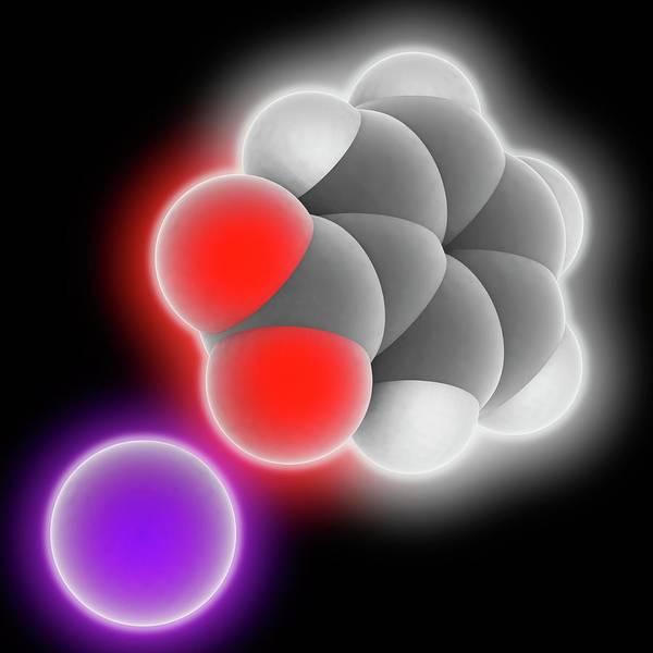 Preservative Wall Art - Photograph - Sodium Benzoate Molecule by Laguna Design