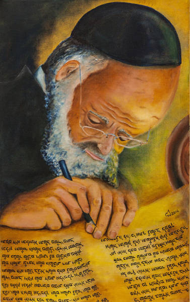 Jewish Music Wall Art - Painting - Sofer Stam by Music of the Heart
