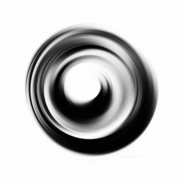Enlightenment Painting - Soft Black Enso - Art By Sharon Cummings by Sharon Cummings