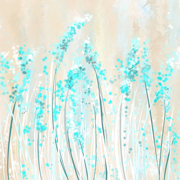 Painting - Soft Blues- Teal And Cream Art by Lourry Legarde
