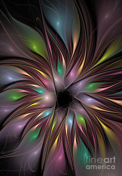 Apophysis Digital Art - Soft Colors Of The Rainbow by Deborah Benoit