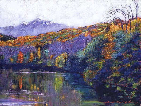 Mountain Lake Painting - Soft Lake by David Lloyd Glover