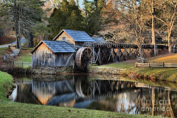 Photograph - Soft Light At Mabry Grist Mill by Adam Jewell