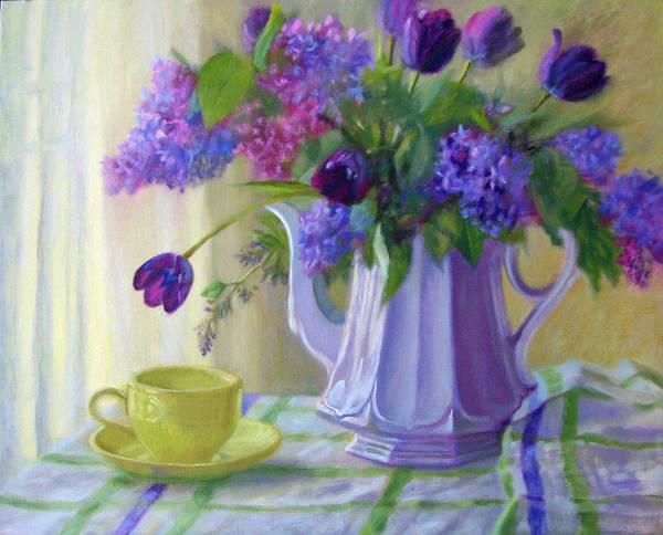 Lilac Painting - Soft Light by Bonnie Mason