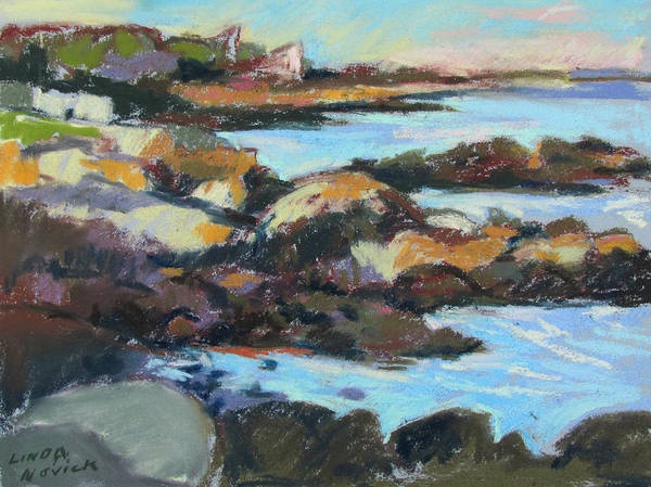 Painting - Soft Rocks At Kennebunkport by Linda Novick
