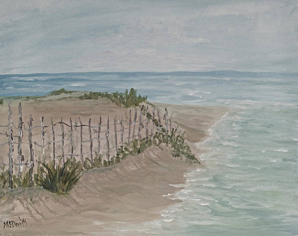 Wall Art - Painting - Soft Sea by Barbara McDevitt
