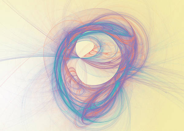 Complexity Digital Art - Soft Swirling Pastel Fractal by Mmdi