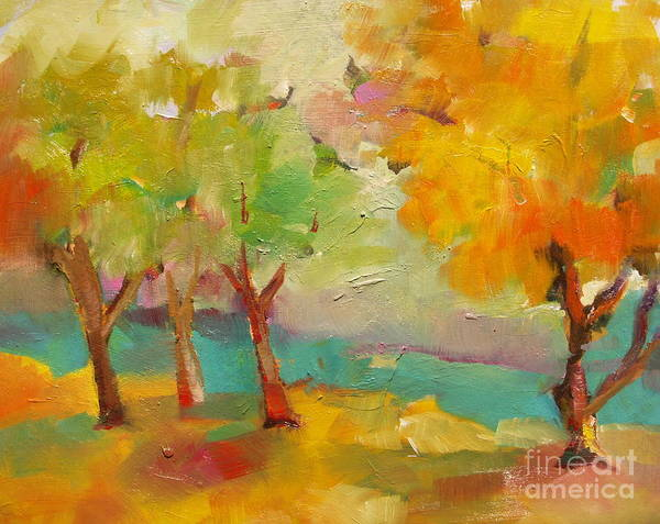 Painting - Soft Trees by Michelle Abrams