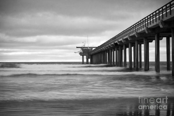 Photograph - Soft Waves At Scripps Pier by Ana V Ramirez