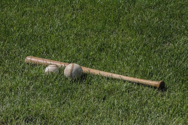 Softball Photograph - Softball Baseball And Bat by Bill Cannon