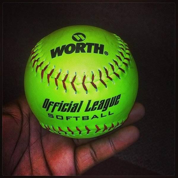 #softball #bored #catchatwork  #neon Art Print