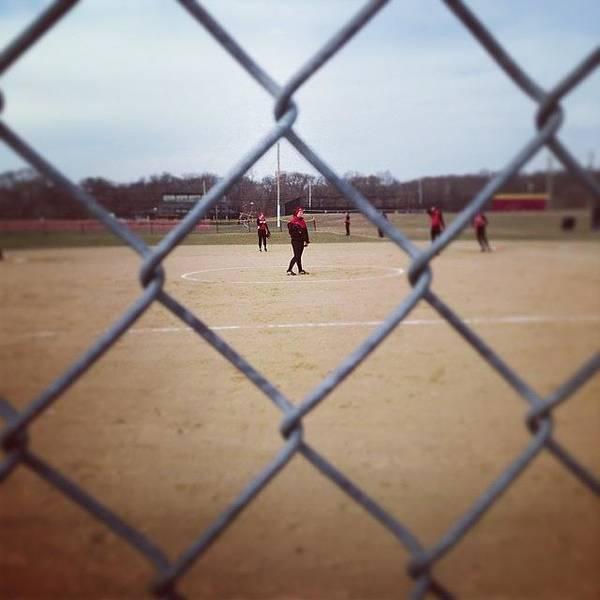 #softball #fence Www.premosch.com Art Print