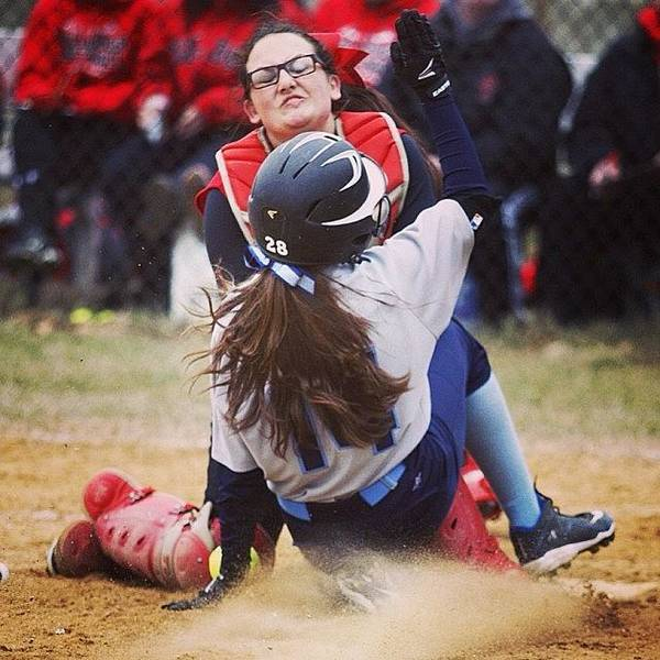 #softball Girls Go In! Www.premosch.com Art Print