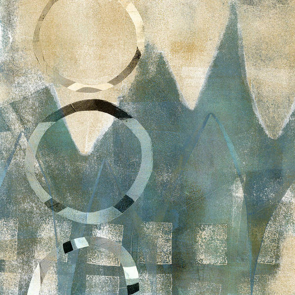 Monoprint Mixed Media - Softly Faded by Carol Leigh