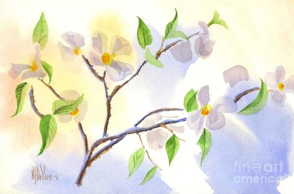 Wall Art - Painting - Softly Missouri Dogwood II by Kip DeVore