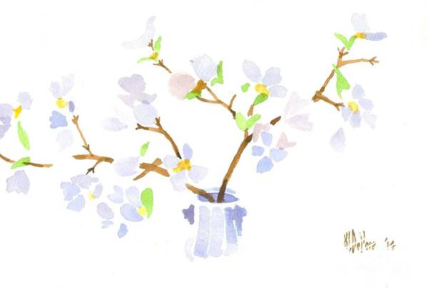 Wall Art - Painting - Softly Missouri Dogwood by Kip DeVore