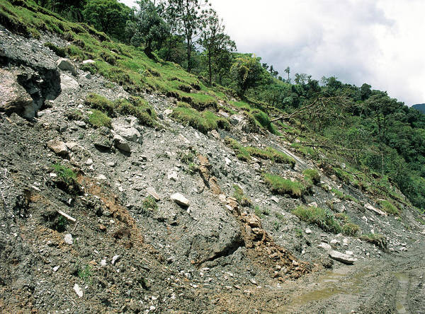 Soil Science Wall Art - Photograph - Soil Slump by Dr Morley Read/science Photo Library