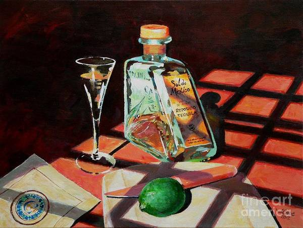 Glass Cutting Painting - Sol Mates by Jerry Cave