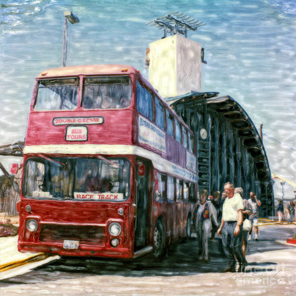 Mixed Media - Solana Beach Double Decker by Glenn McNary