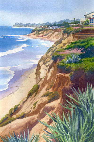 Pacific Wall Art - Painting - Solana Beach Ocean View by Mary Helmreich