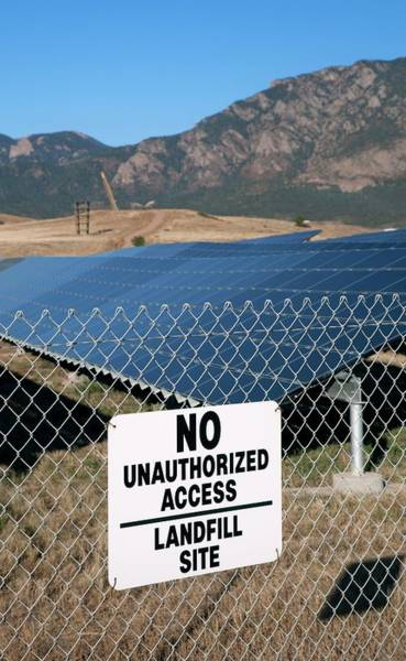 Solar Panels Photograph - Solar Array On Landfill Site by Jim West