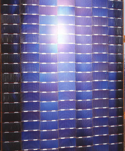Solar Panels Photograph - Solar Cells On Side Of Meteosat 6 Satellite by David Parker/esa/science Photo Library