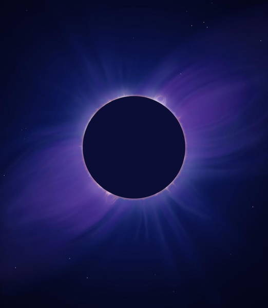 Totality Photograph - Solar Corona At Eclipse by Mark Garlick/science Photo Library