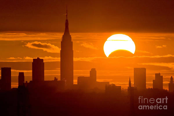 Photograph - Solar Eclipse On Nov 3rd 2013 by Chris Cook