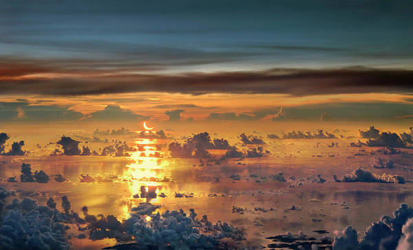 Umwelt Photograph - Solar Eclipse Over Sea, South China by Per-Andre Hoffmann