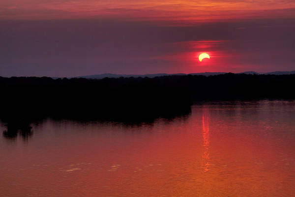 Photograph - Solar Eclipse Sunset by Jason Politte