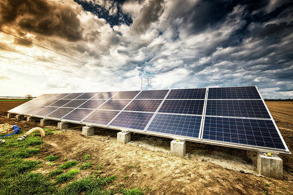 Cultivate Photograph - Solar Energy Panels by Egon69