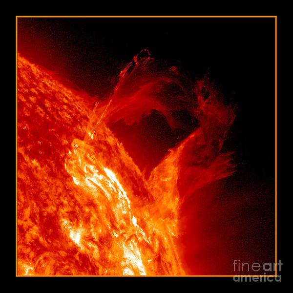 Photograph - Solar Eruption Nasa by Rose Santuci-Sofranko