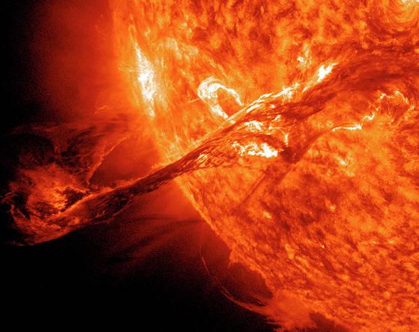 Nasa Photograph - Solar Flare by Solar Dynamics Observatory/nasa