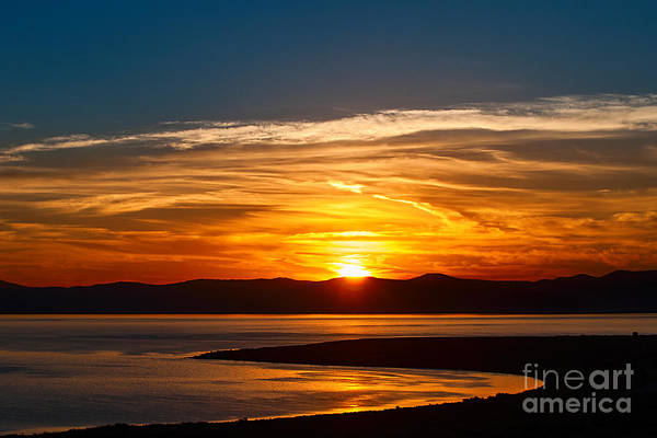 Rise Above Wall Art - Photograph - Solar Lava - Colorful Sunrise Over Mono Lake In California. by Jamie Pham