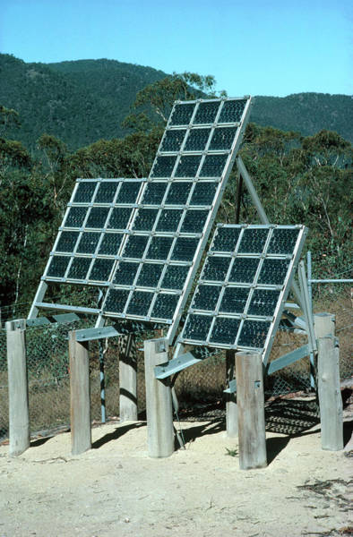 Wall Art - Photograph - Solar Panel For Telephone Station by Robin Scagell/science Photo Library