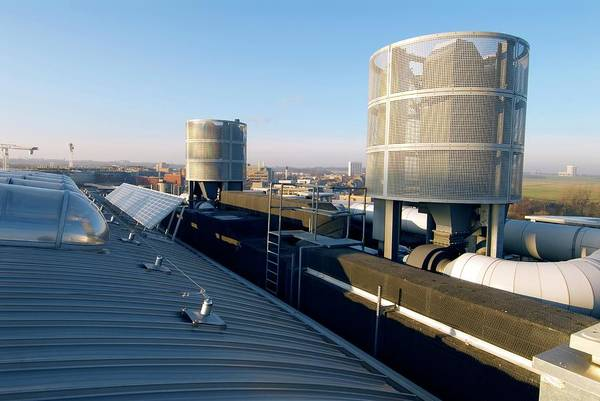 Solar Panels Photograph - Solar Panels And Ventilation Ducts by Simon Fraser/science Photo Library
