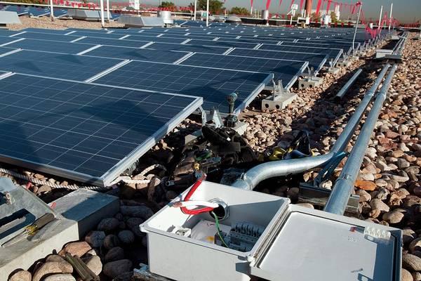 Solar Panels Photograph - Solar Panels by Jim West
