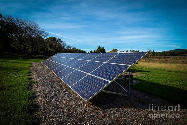 Solar Panels Mendocino County Art Print