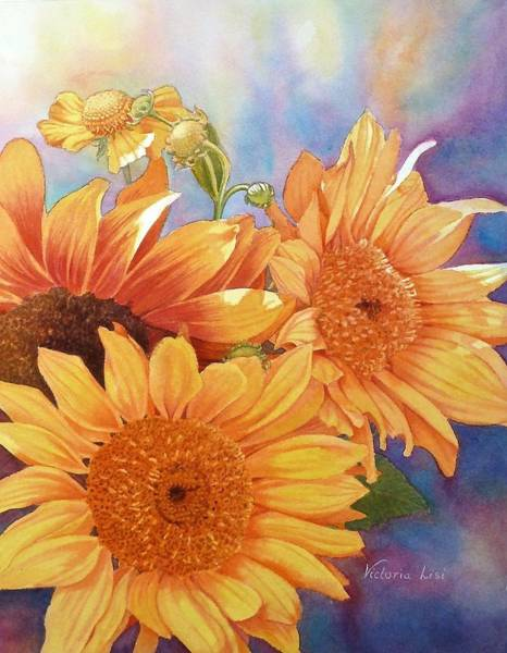 Painting - Solar Power by Victoria Lisi